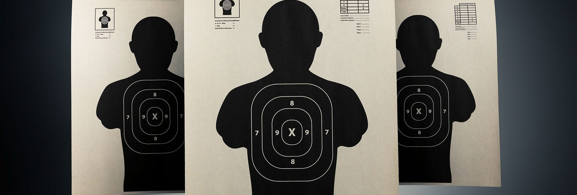 Shooting Targets from one of the courses