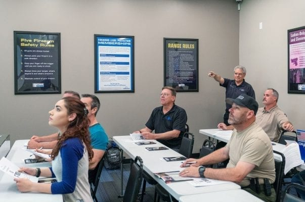 A group taking a personal protection course