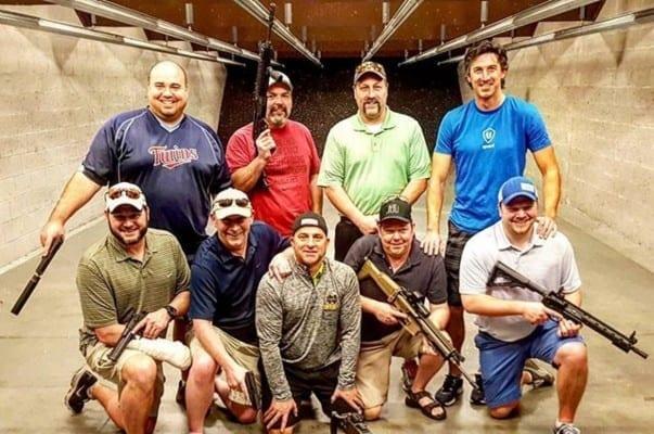 bachelor party at the gun range