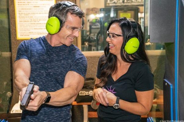 couple at the gun range
